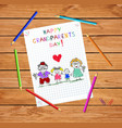 grandparents day children colorful hand drawn of vector image vector image