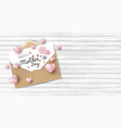 happy mothers day on white paper in brown vector image vector image