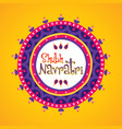 happy navratri greeting design vector image