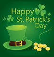 happy saint patricks day 17 march with leprechaun vector image vector image