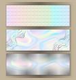 holographic web banner set vector image
