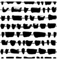 horizontal lines with black splotch pattern vector image vector image
