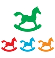 Horse toy sign Colorfull set vector image vector image