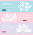 irreverent birthday web or print banners design vector image vector image