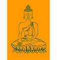 Isolated statue of Buddha vector image vector image