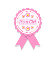 Its a girl badge vector image vector image