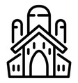 jewish church icon outline style vector image