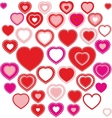 lacy heart valentines vector image