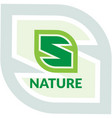 letter s nature logo vector image
