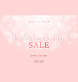 light pink background with bokeh effect happy vector image vector image