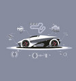 modern car technology vector image vector image