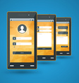 Modern smartphone Flat design template for mobile vector image