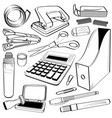 office stationery tool doodle a sketch of doodle vector image vector image