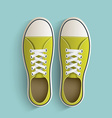 Old vintage sneakers vector image