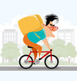 ourier on a bicycle vector image