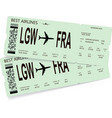 pattern of green boarding pass vector image vector image