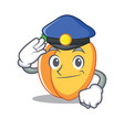 police apricot character cartoon style vector image vector image