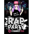 Rap Party poster vector image vector image