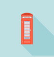 red telephone box of london vector image