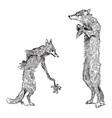 reynard the fox isegrims challenge vintage vector image vector image
