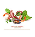 seafood cocktail realistic composition vector image vector image
