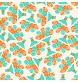 Seamless pattern with bouquets of roses in retro vector image vector image
