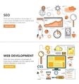 Search Engine Optimization and Web development vector image vector image