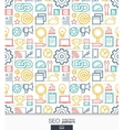 SEO wallpaper Marketing seamless pattern vector image vector image