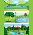set of water landscape vector image vector image