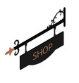 shop sign vector image vector image