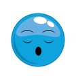 sleep face cartoon expression icon graphic vector image