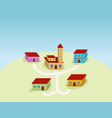 small village vector image vector image