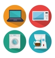 smart home set menu icons vector image