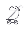 stroller buggy line icon sign vector image vector image
