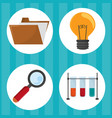 study elements cartoon vector image vector image