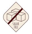 sugar free product vector image vector image