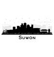 suwon south korea city skyline silhouette vector image vector image