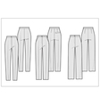 Technical sketch of pants vector image