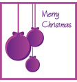 three purple paper christmas decoration baubles vector image vector image