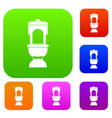 toilet bowl set collection vector image vector image