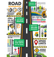 traffic and transportation infographics vector image vector image