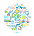 Travel set -line icons vector image vector image