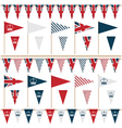uk party flags vector image vector image