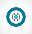 video film bold blue border circle icon vector image