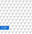 White Seamless Triangles Background vector image