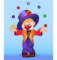 young cheerful clown vector image