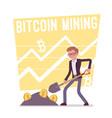 bitcoin mining poster vector image