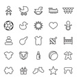 25 outline universal baby kids icons vector image vector image