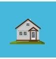 A cartoon house in in flat polygonal style