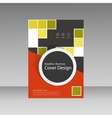 Abstract brochure template design with squares and vector image vector image